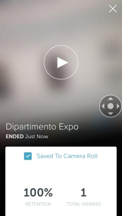 Video registrato e terminato